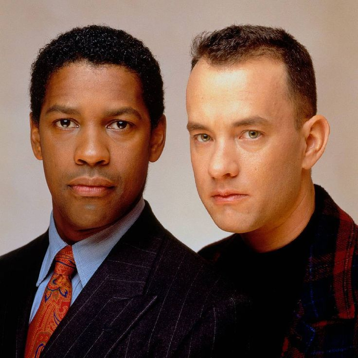 Denzel Washington y Tom Hanks, ahí tenía el corte de pelo como Forrest Gump.