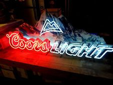 Coors Light Neon Beer Sign 4' 8
