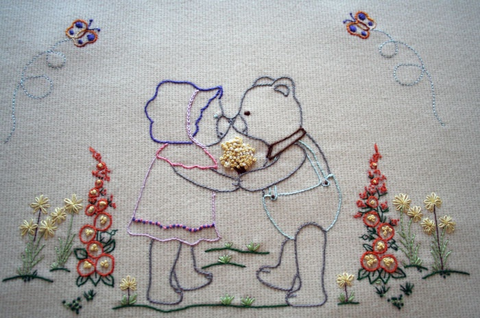 embroidered baby blankets