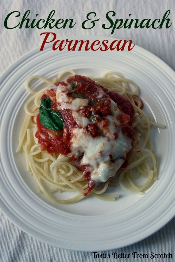 Chicken and Spinach Parmesan on MyRecipeMagic.com