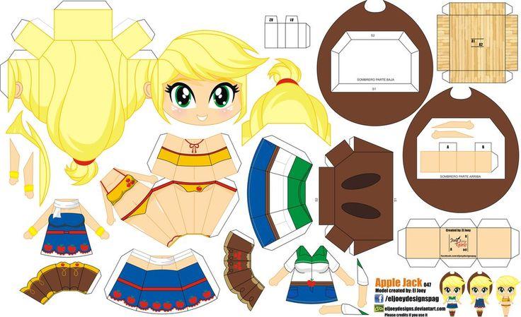 Apple Jack (Joey's Chibi Girls 047) by ELJOEYDESIGNS.deviantart.com on @DeviantArt