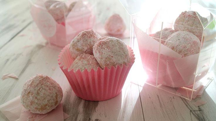 苺ジャムで作るスノーボールクッキー 簡単美味しい! - YouTube
