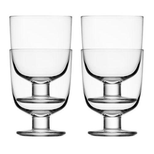iitala Lempi Clear Glass Set of 4 $75.00