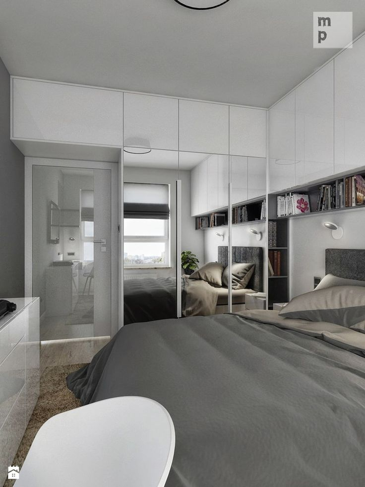 INTERIOR | Mieszkanie M3 - Warszawa - Średnia sypialnia małżeńska, styl nowoczesny - zdjęcie od Manufaktura Projektów