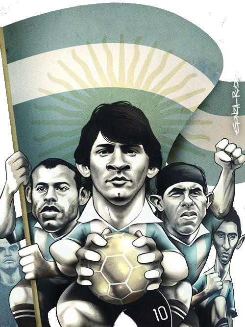 Romero,Mascherano,Messi,Tevez,Dí Maria