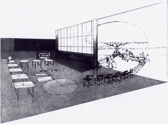 Sala-jardim croqui