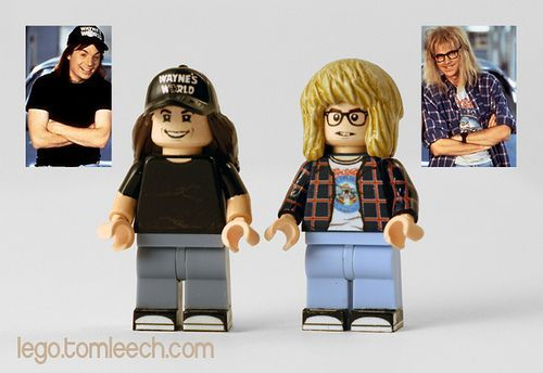 Wayne's World Custom LEGO Minifigures...need for my random figurine collection!