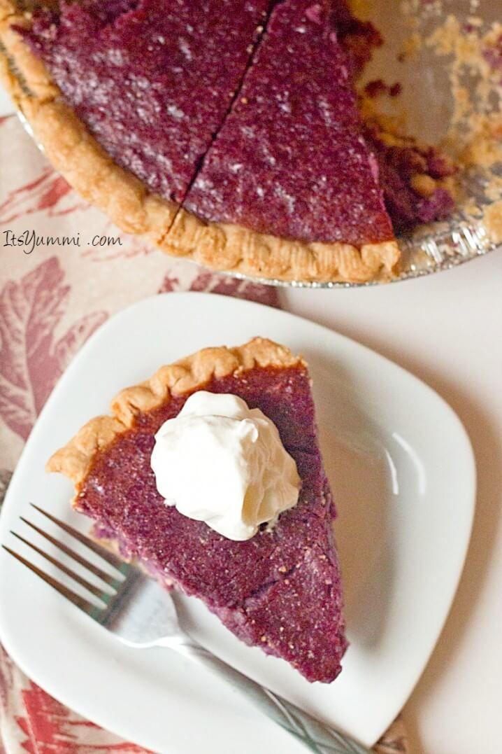 Purple sweet potato pie recipe, This southern classic dessert was made using gorgeous purple sweet potatoes. Get the recipe on ItsYummi.com