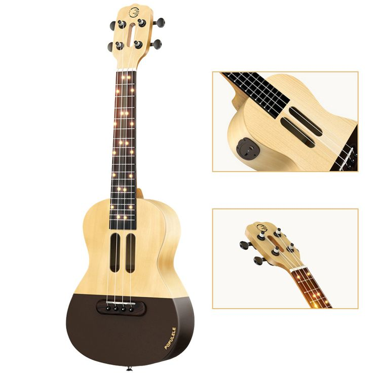 Intelligent Ukulele APP 23 inch smart phone ukulele Uke for beginners gift Adapterization 4 strings Guitar