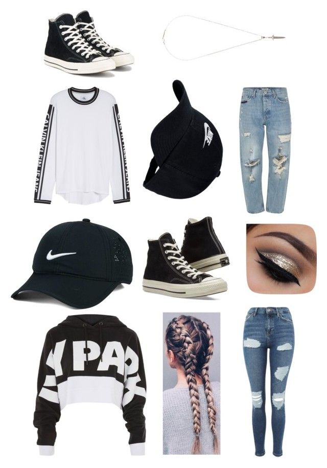 """""""couple"""" by jasmimosa on Polyvore featuring Topshop, Calvin Klein Jeans, Topman, NIKE, Converse and Roman Paul"""