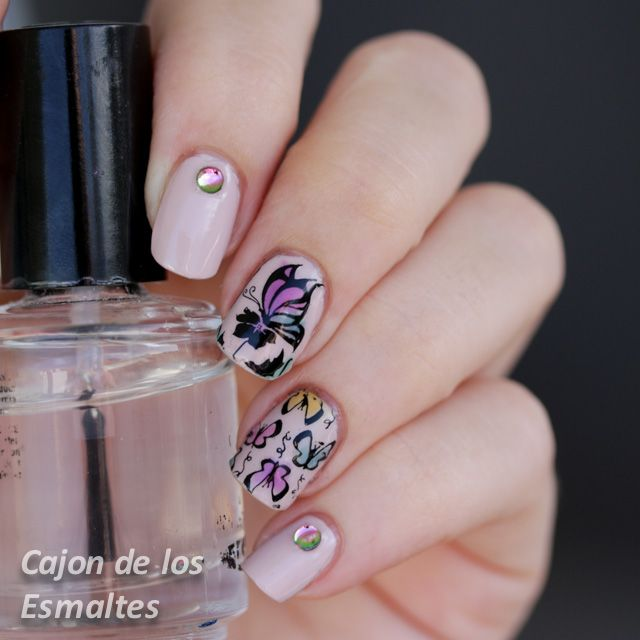 Butterflies and reverse stamping - Plate BP34 @bornprettynails
