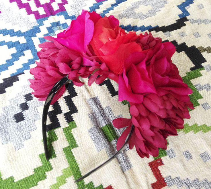 Mexican Floral Head dress DIY - Frida Kahlo Style