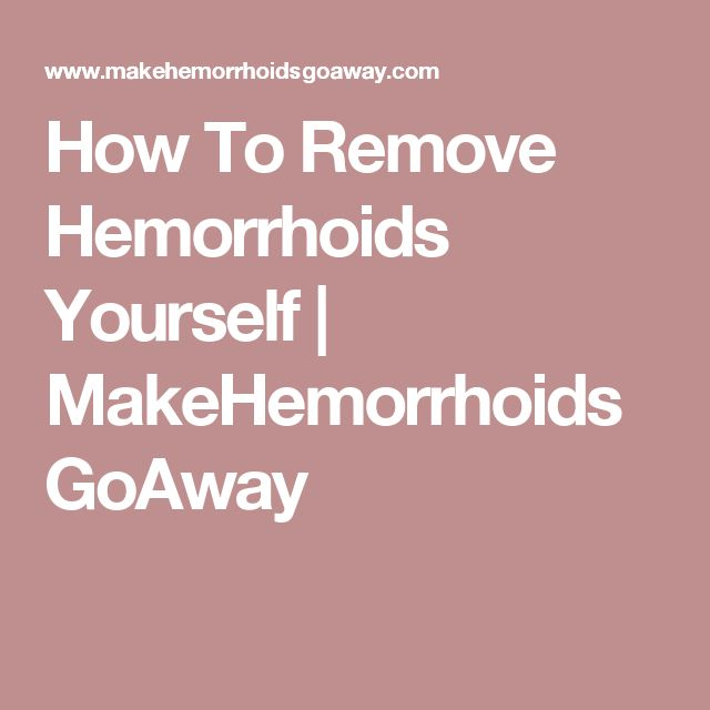 how to know you have hemorrhoids