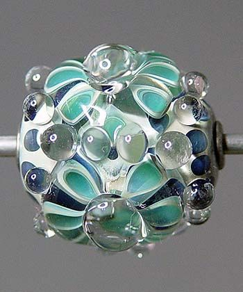 Teal Lampwork Bead SALE by RonsickOriginals on Etsy