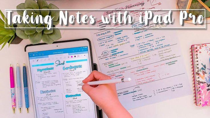 How i take notes on my ipad pro goodnotes 5 notability