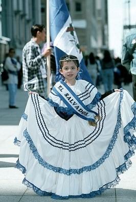 El Salvador traditional dress -