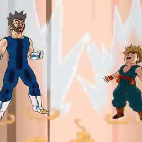 Un padre se incluyó a él y a su hijo en una versión de Dragon Ball Z creada por su cumpleaños.