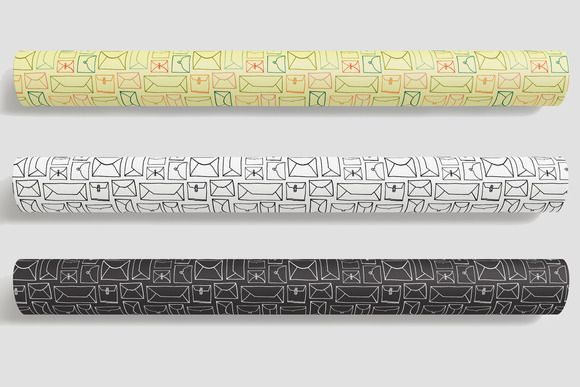 doodle enevelope wrapping paper