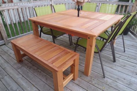 Cedar Patio Table | Do It Yourself Home Projects from Ana White