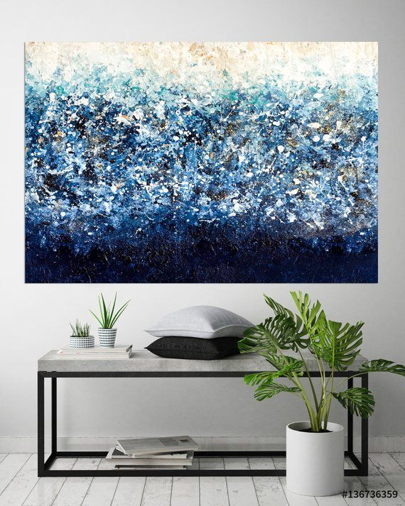 This Item Is Unavailable Blue Abstract Painting Blue Wall Art