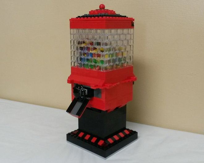 how to make a lego candy machine instructions