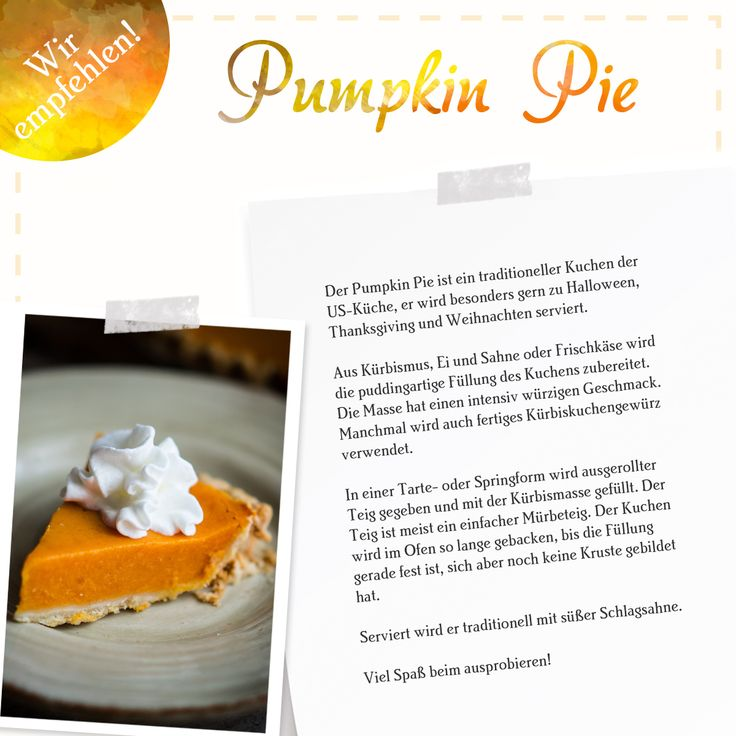#pumkin #pie #rezept #halloween #thanksgiving #weihnachten