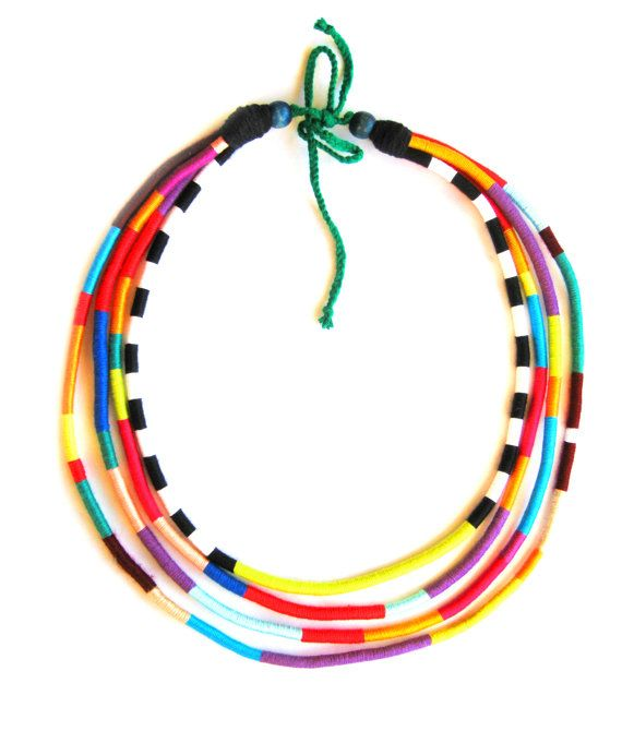 Tribal Rope African Necklace  Masai Necklace  by HippieThings