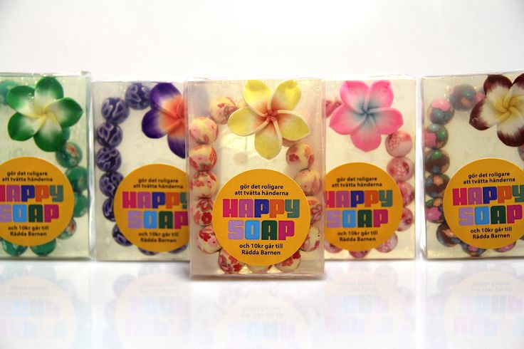 Happy Soap Hawaii in different colors. Yellow is my favorite!