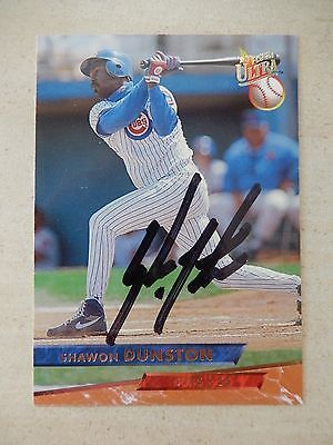 #Shawon dunston #autographed 1993 fleer ultra #baseball card,  View more on the LINK: http://www.zeppy.io/product/gb/2/272184043849/