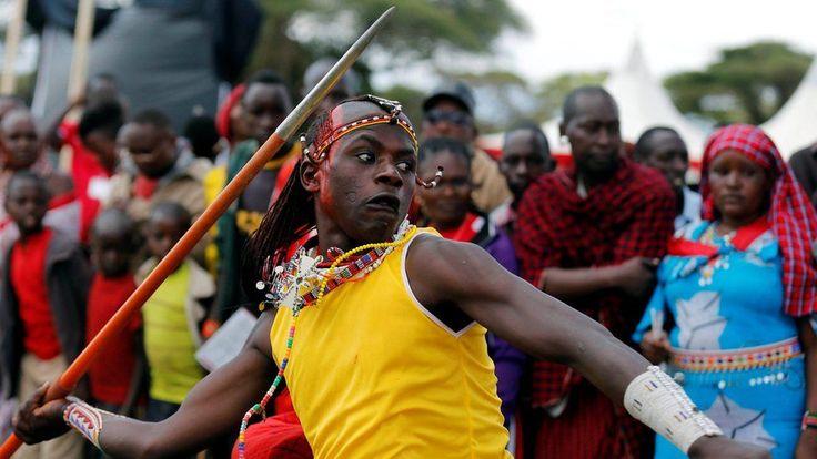 jama Tipis, a Maasai moran from Rombo Manyatta, competes in the 2016 Maasai Olympics at the Sidai Oleng Wildlife Sanctuary, at the base of Mt. Kilimanjaro, near the Kenya-Tanzania border in Kimana, Kajiado, Kenya December 10, 2016.