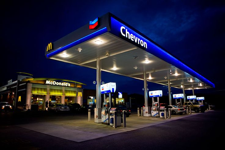 Ev Charging Stations >> modern Chevron Gas Station | McDonald's Gas Station | Small Town of America | Chevron gas ...