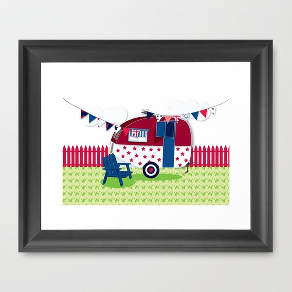 Framed caravan picture