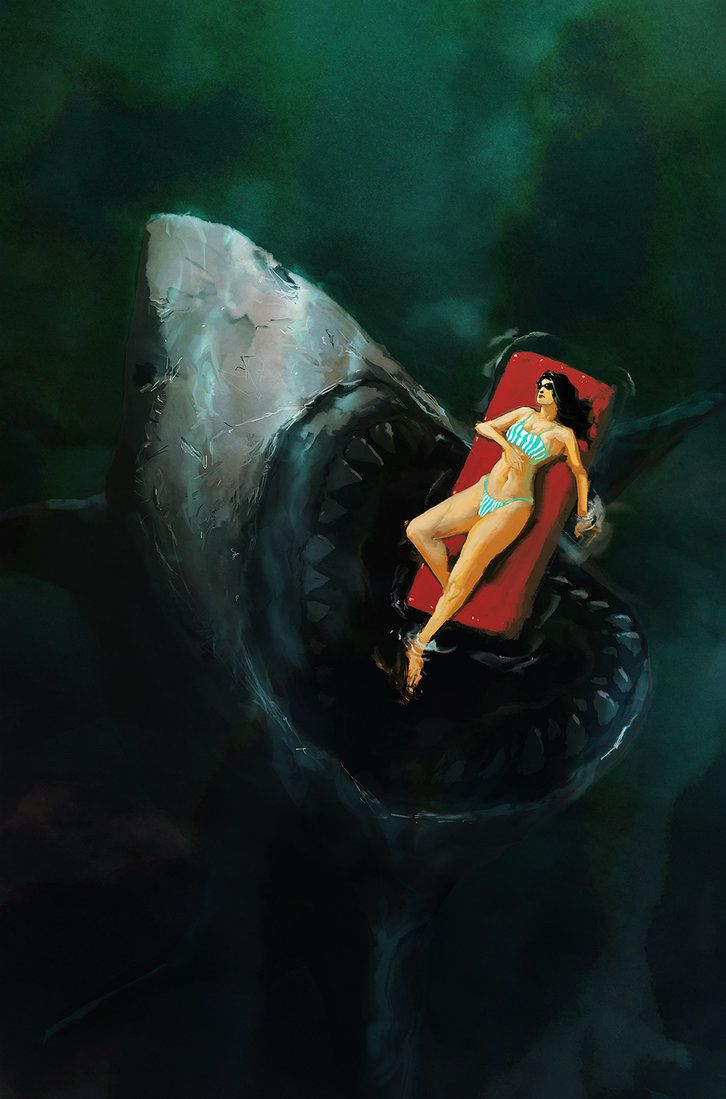Terrifying JAWS Art Reminds Me to Never Get in the Water — GeekTyrant
