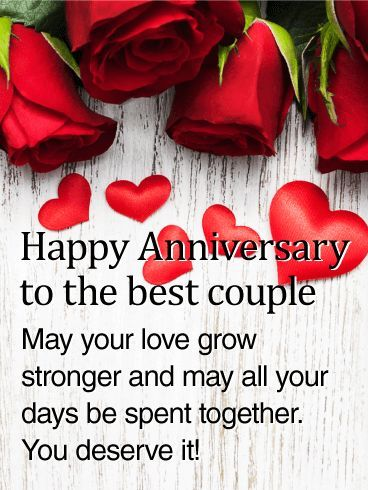 to the best couple rose happy anniversary card this