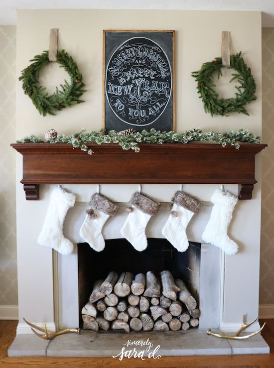 Diy Fireplace Christmas Decor : Best christmas fireplace decorations ideas on