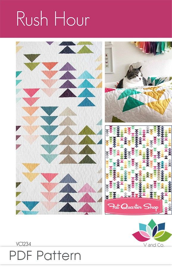 Rush Hour Downloadable PDF Quilt Pattern<BR>V and Co.