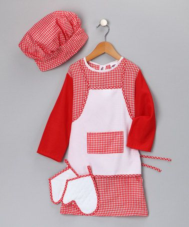 Red Gingham Chef Dress-Up Set - Toddler & Kids by Dress Up America on #zulily