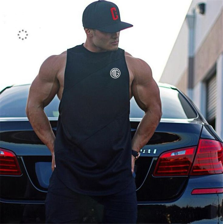 Promo Muscle Guys Brand Gyms Clothing Fitness Men Tank Top Mens Bodybuilding Stringers Tank Tops workout Singlet. Click visit to check price