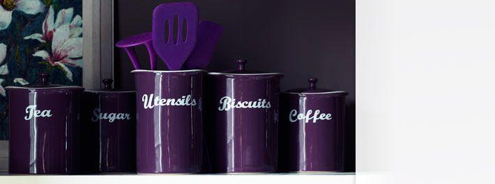 purple tea caddy  Kitchen  Pinterest  Purple Kitchen, Kitchen