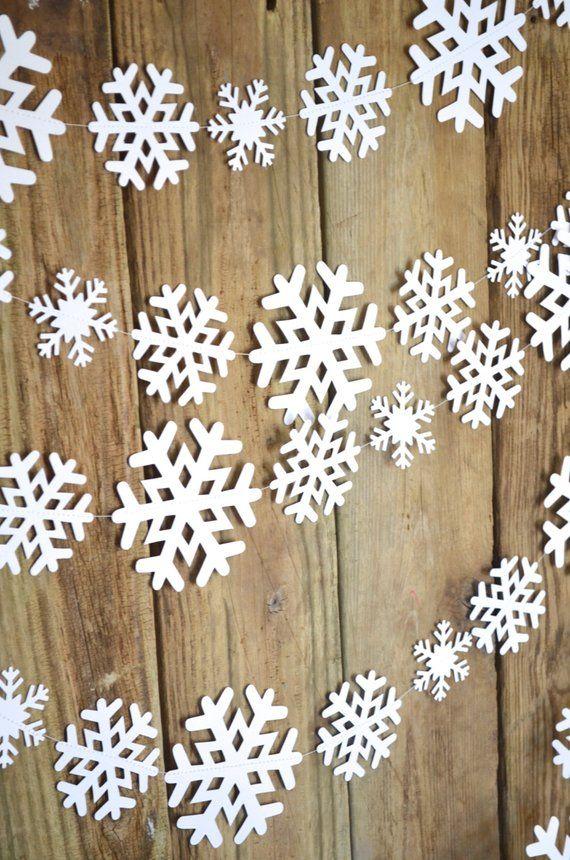 Snowflake Banner Winter Garland Winter Banner Snowflake Garland