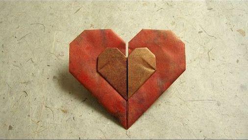 В этом разделе вы увидите схемы из бумаги как сложить сердце и при этом не использовать ножницы.
