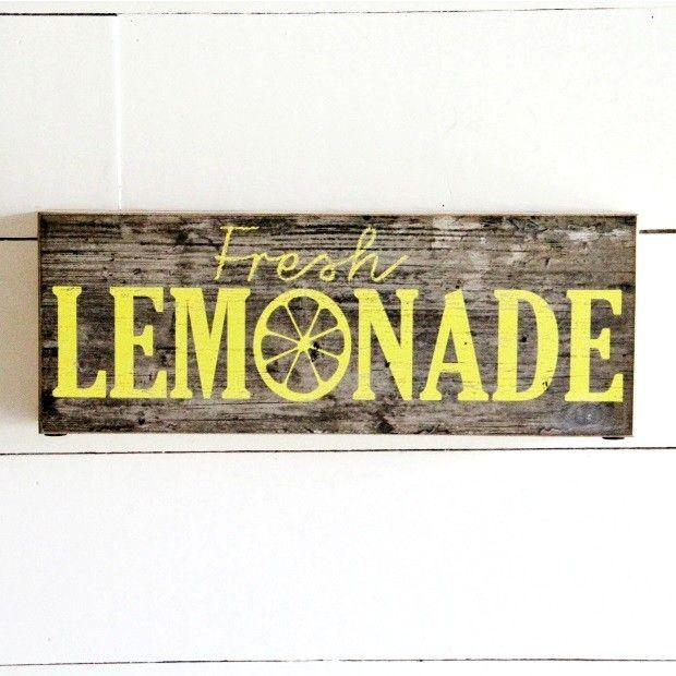 "Barn Board ""Fresh Lemonade"" Wall Art"