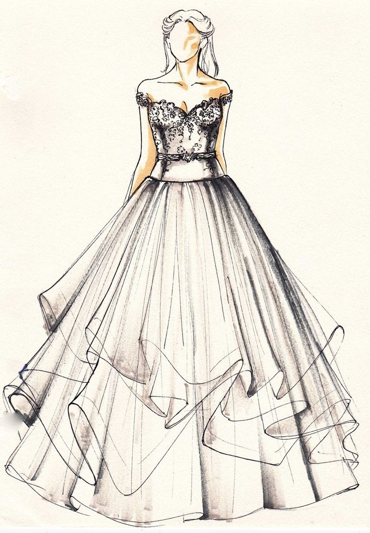 44 Best Wedding Gown Sketch Images On Pinterest | Gown Wedding And Sketches