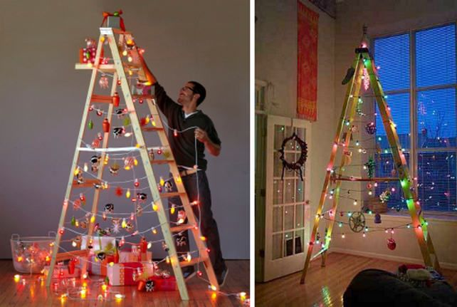 Christmas tree alternatives - ladder