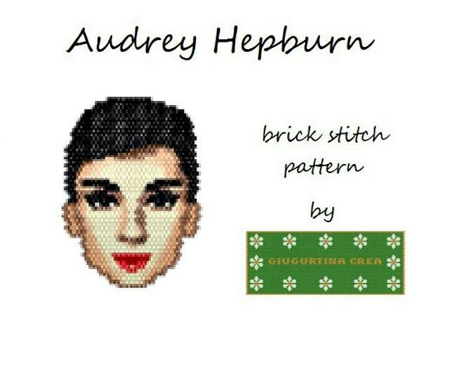 "53 Likes, 1 Comments - Giugurtina Crea  (@giusy.scrima) on Instagram: ""https://www.craftsy.com/jewelry/patterns/audrey-hepburn/497646  #audreyhepburn #brickstitch…"""