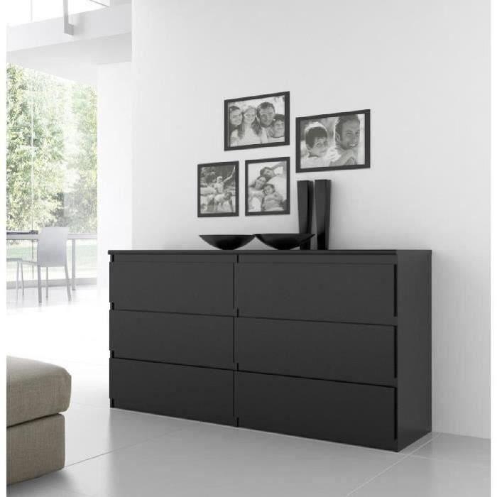 Natti Commode De Chambre Style Contemporain Noir Mat L 154 Cm Commode Chambre Meuble Chambre Mobilier De Salon