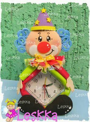 Fofu despertador payaso fofuchas pinterest reloj for Agarraderas para ninos