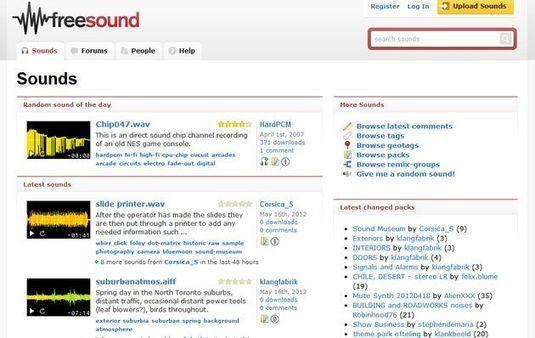 Freesound, banco de sonidos de dominio público o con licencia