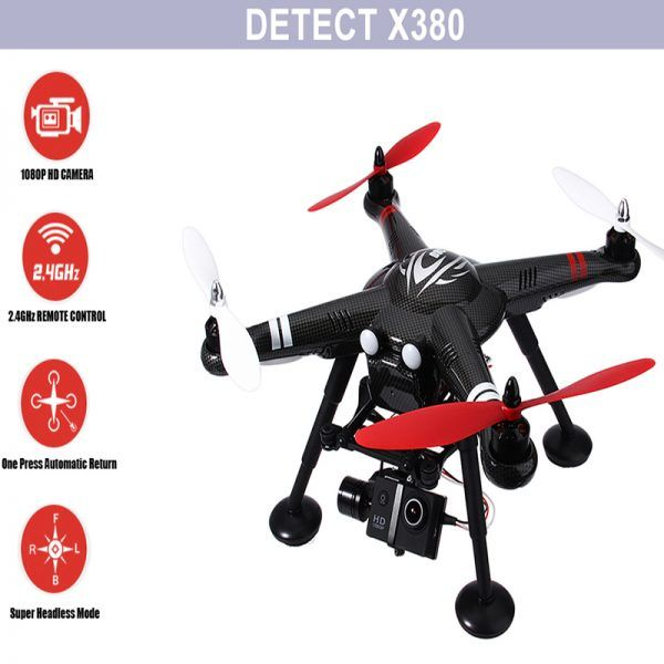 Professional RC Drone With 1080P HD Camera GPS 2.4GHz 4CH
