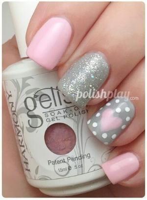 Pink & Silver Nail Art ..